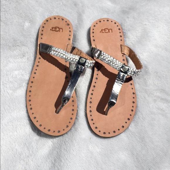 948b77ef671 UGG Bria Silver Sandals